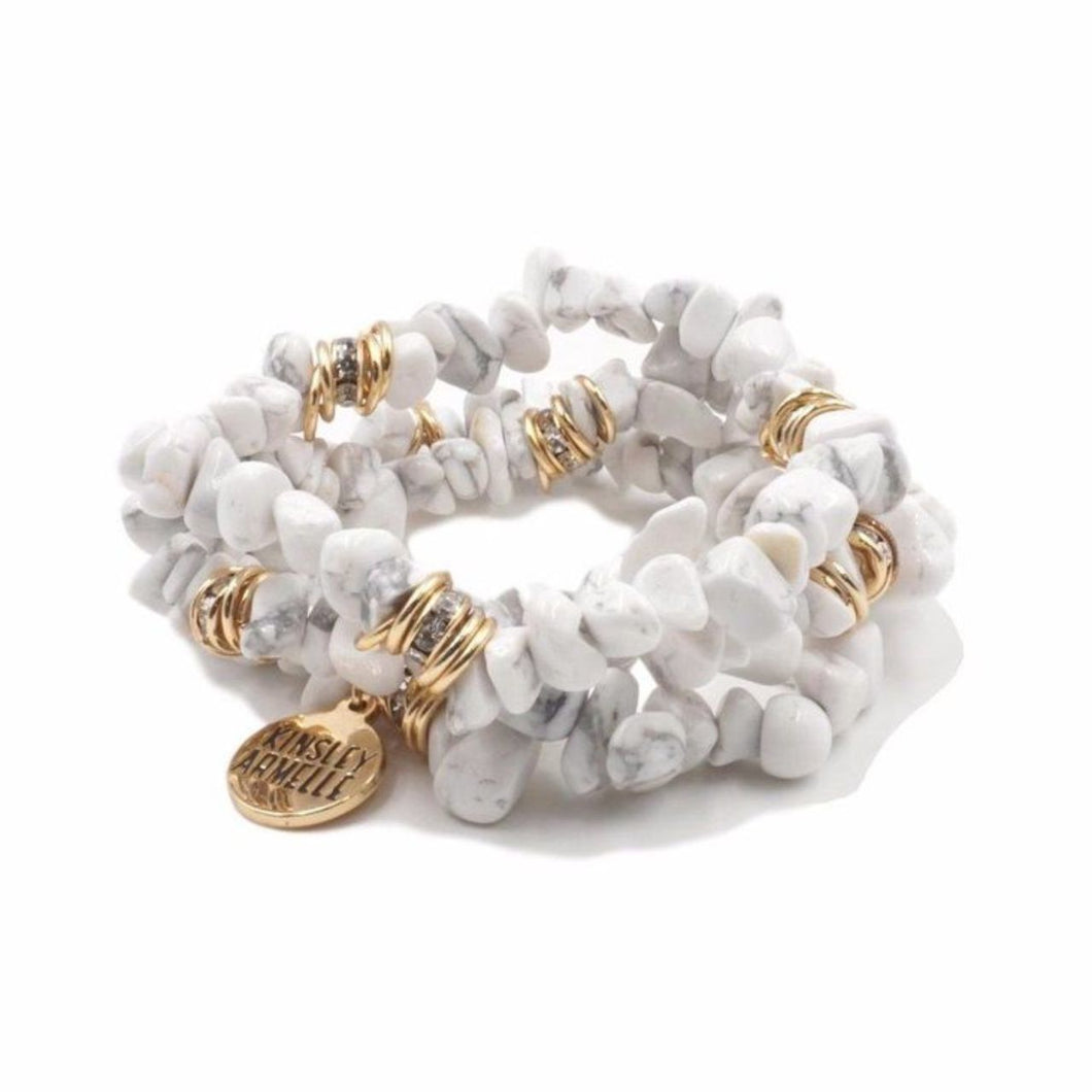 Kinsley Armelle - Pepper Cluster Bracelet with Gold Detail