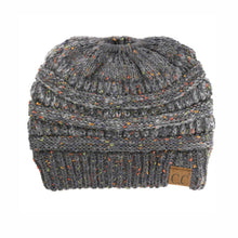 Load image into Gallery viewer, CC Flecked Ombre Ponytail Beanie