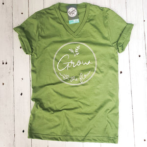 Grow with the Flow - Unisex V-neck Tee