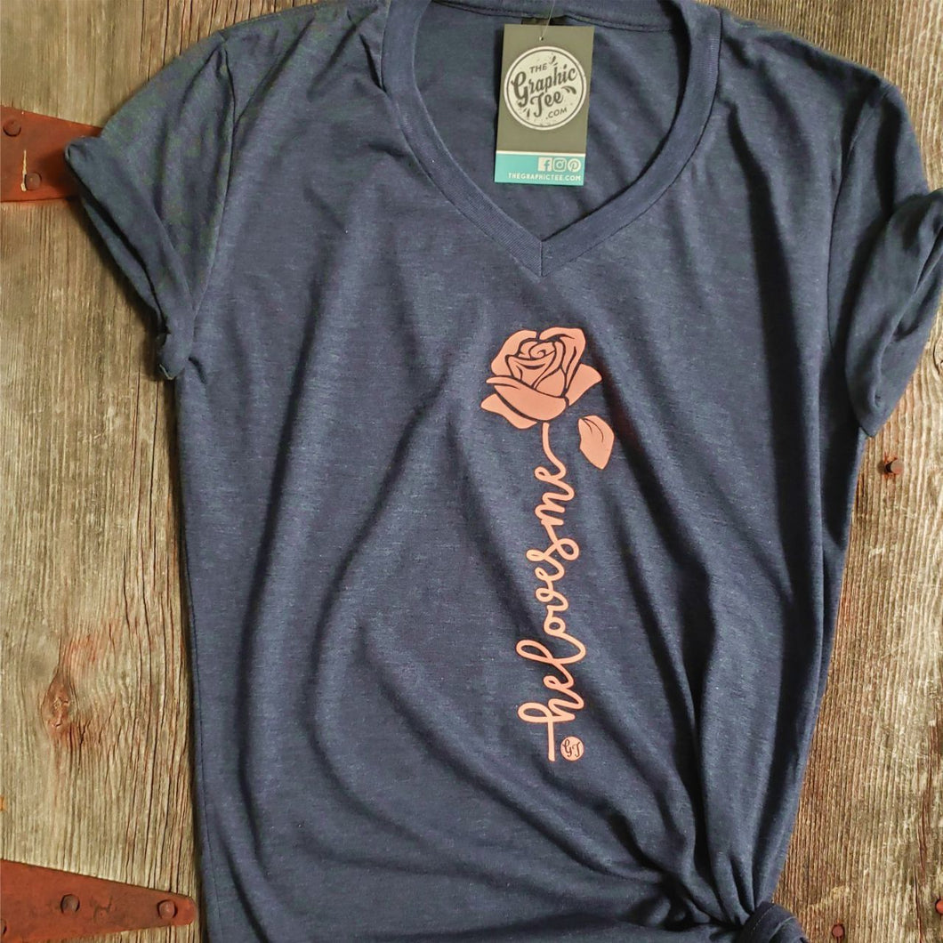 He Loves Me - Ladies V-Neck Tee
