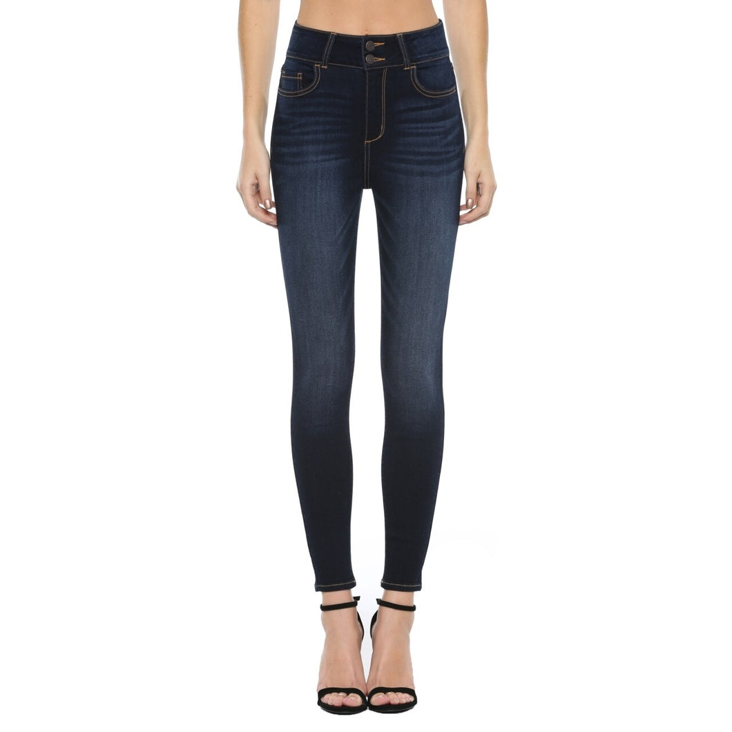 Cello High Rise 2 Button Waistband Skinny Jean