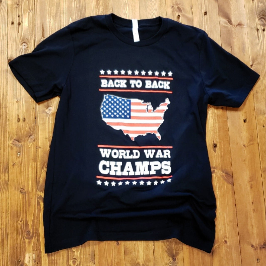 Back to Back World War Champs - Black Tee