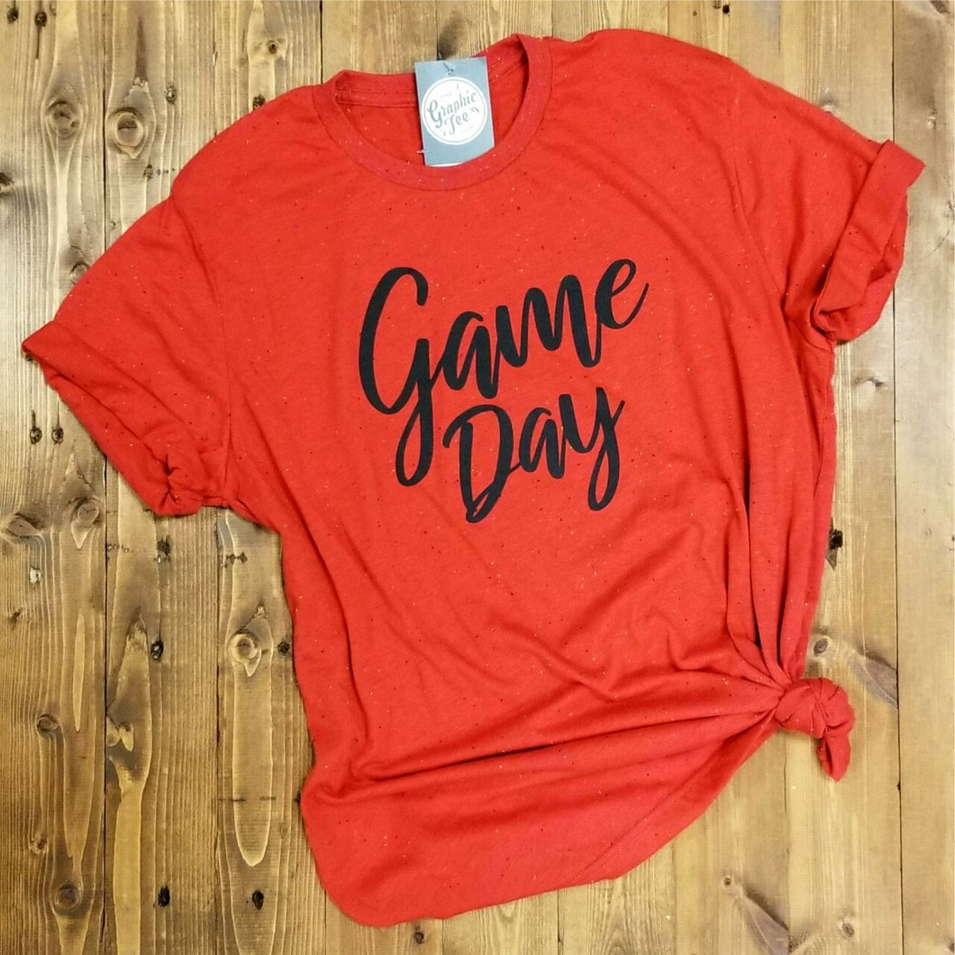 Game Day - Red Speckled Tee