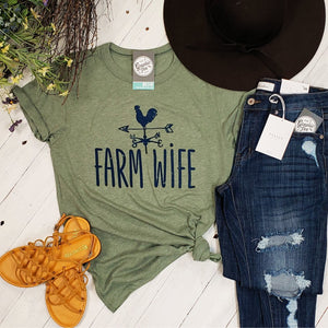 Farm Wife - Adult Vintage Tee