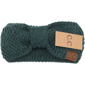 CC Beanie Chevron Knit Knot Head Wrap