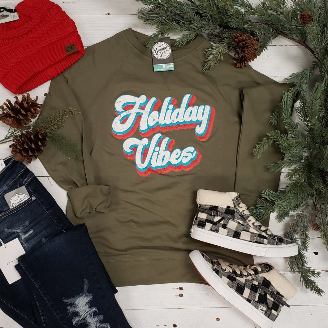 Holiday Vibes French Terry Raglan