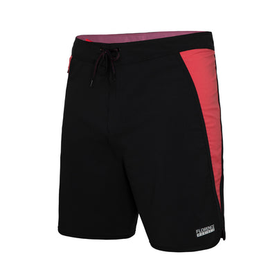 Color:BlackRed-Florence Block Boardshort