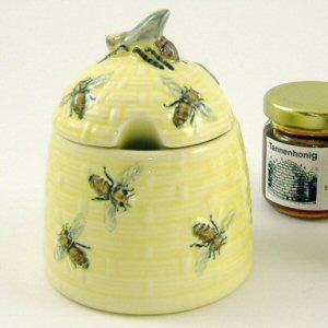 Zeller Keramik Bees Honey Pot Beehive