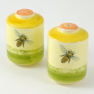 Zeller Keramik Bees Salt & Pepper Pot