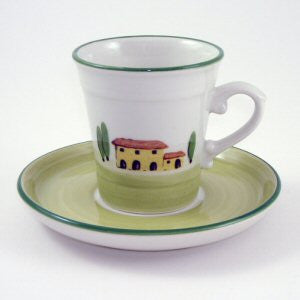 Zeller Keramik Bella Toscana Tall Cup and Saucer