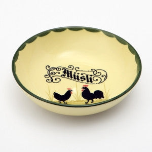 Zeller Keramik Cocks & Hens Cereal Bowl with Musli Inscription