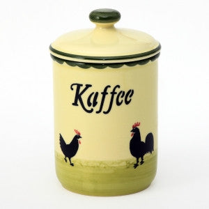 Zeller Cocks & Hens Storage Jar (Coffee) 1 litre