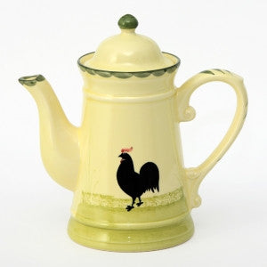 Zeller Keramik Cocks & Hens Coffee Pot