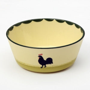Zeller Cocks & Hens Conical Bowl 17cm