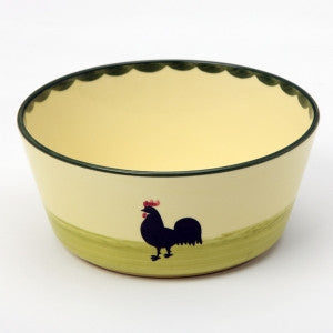 Zeller Cocks & Hens Conical Bowl 19cm
