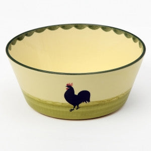 Zeller Cocks & Hens Conical Bowl 23cm