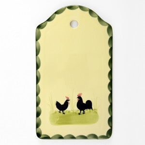 Zeller Cocks & Hens Cutting or Cheese Board 25x15cm