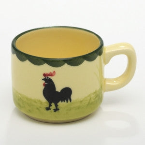 Zeller Keramik Cocks & Hens Espresso Cup Stackable