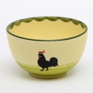 Zeller Keramik Cocks & Hens Small Bowl