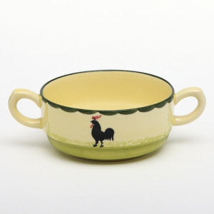 Zeller Keramik Cocks & Hens Soup Bowl Stackable