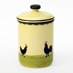 Zeller Keramik Cocks & Hens Storage Jar
