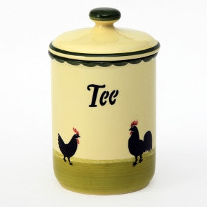 Zeller Cocks & Hens Storage Jar (Tea) 1 litre