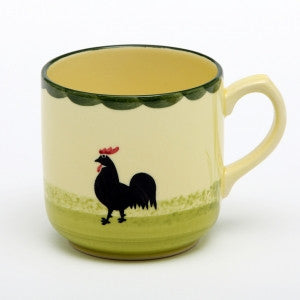 Zeller Keramik Cocks & Hens Breakfast Mug