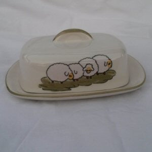 Zeller Shepherd & Sheep Butter Dish with Lid