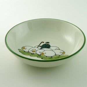 Zeller Keramik Shepherd & Sheep Cereal Bowl