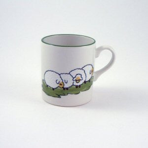 Zeller Keramik Shepherd & Sheep Childrens Mug