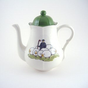 Zeller Keramik Shepherd & Sheep Coffee Pot