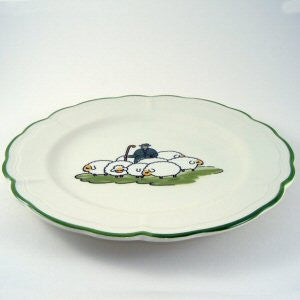 Zeller Keramik Shepherd & Sheep Plate