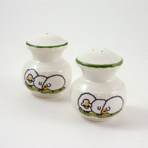 Zeller Keramik Shepherd & Sheep Salt & Pepper Pot