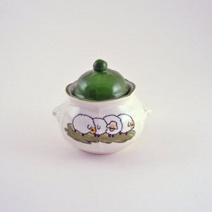 Zeller Shepherd & Sheep Sugar Bowl with Lid