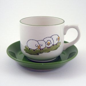 Zeller Shepherd & Sheep Saucer for Breakfast Cup (special green) 18cm