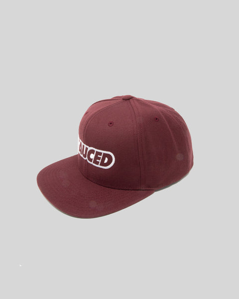 SAUCED SNAPBACK CAP - BURGUNDY | WHITE