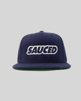 SAUCED SNAPBACK CAP - NAVY | WHITE