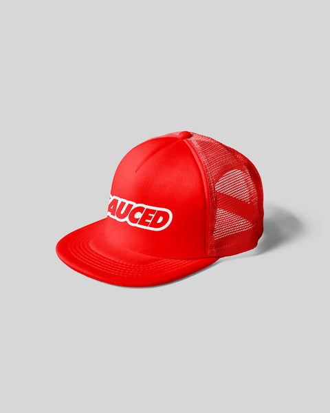 SAUCED TRUCKER CAP - RED | WHITE