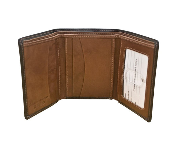 Tri-Fold Men's Wallet (Black/Toffee)