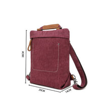 Load image into Gallery viewer, Burgundy Multifunctional Cotton Linen Bag