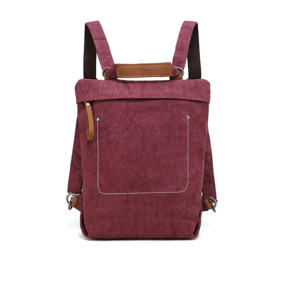 Burgundy Multifunctional Cotton Linen Bag