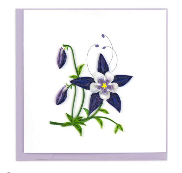 Rocky Mountain Columbine Quilling Card