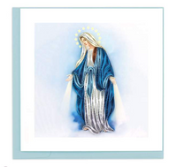 Virgin Mary Quilling Card
