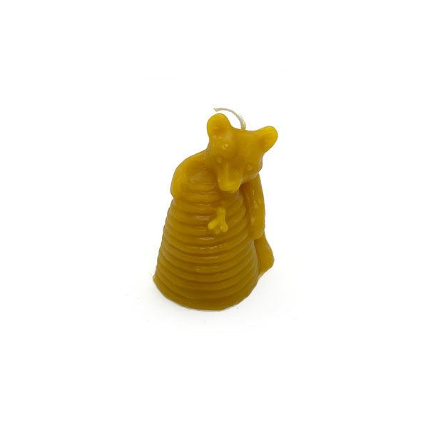 Honey Bear Beeswax Candle