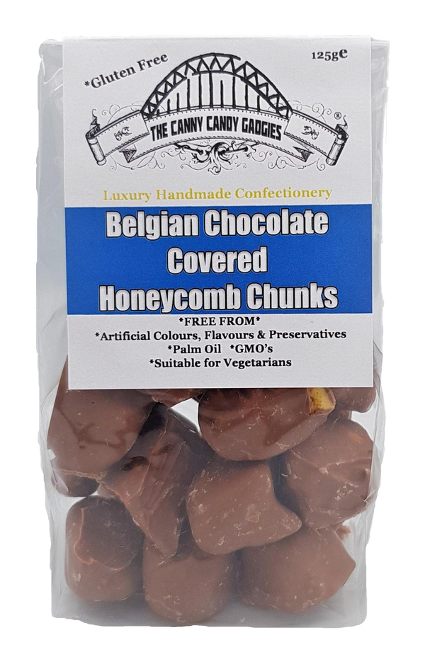 Belgian Chocolate Covered Honeycomb Chunks 125g - The Canny Candy Gadgies