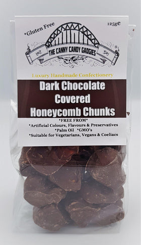 Dark Chocolate Covered Honeycomb Chunks 125g The Canny Candy Gadgies
