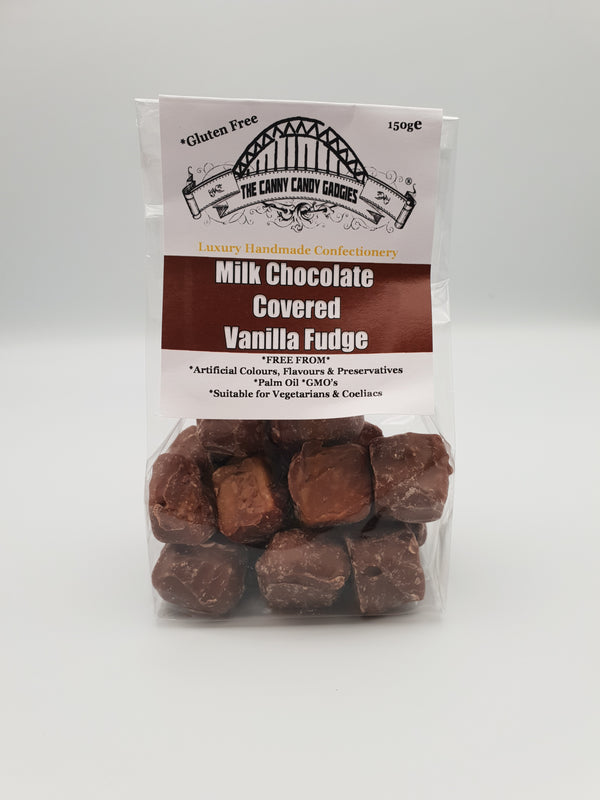 Milk Chocolate covered Vanilla Fudge 150g The Canny Candy Gadgies