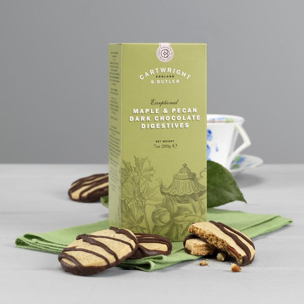 Maple & Pecan Digestive Biscuits 200g - Best British Produce