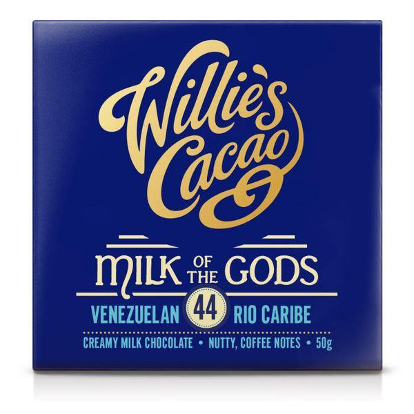 Willie's Cacao Milk Of The Gods 44% Milk Chocolate Bar 50g - Best British Produce