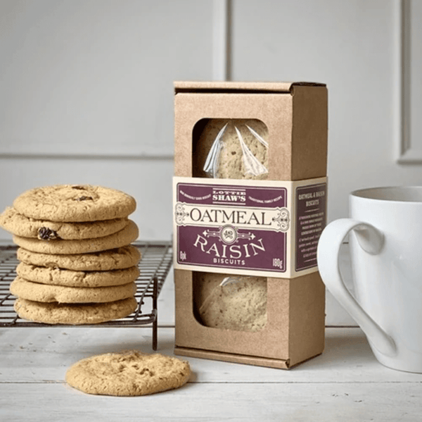 Oatmeal & Raisin Biscuit Box 180g - Best British Produce